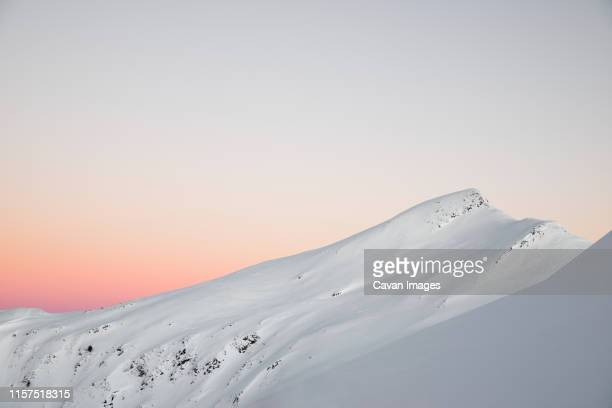 snowy mountain in the pyrenees. - ピレネー ストックフォトと画像