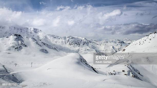 Snowy Mountain Panorama in the Alps