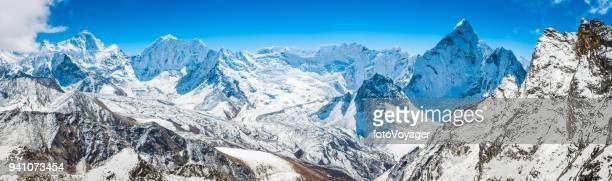 Schneebedeckten Gipfeln Bergpanorama Himalaya Makalu-Baruntse Ama Dablam Nepal