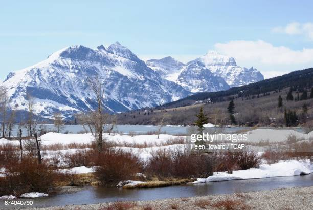 snowy mountain range during winter - howard,_wisconsin stock pictures, royalty-free photos & images