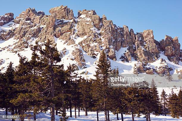 snowy mountain range - cliqueimages stock pictures, royalty-free photos & images