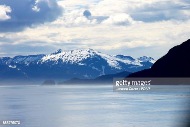 snowy mountains in alaska - janessa stock pictures, royalty-free photos & images
