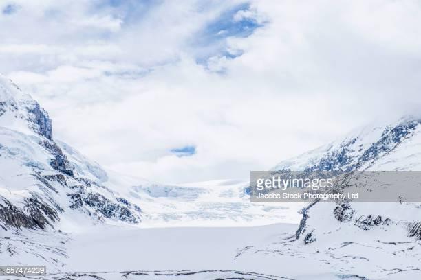 Snowy mountains in Columbia Icefield, Jasper, Alberta, Canada
