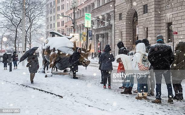 Snowy New York Street Scene
