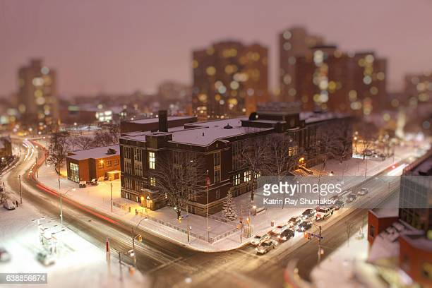 Snowy Night in Miniature City