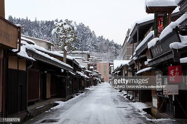 Snowy Old Town of Hida-takayama, Gifu Prefecture