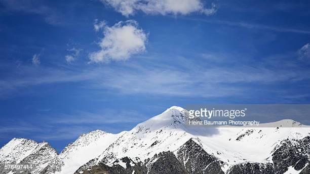Snowy peaks, Passo Lucomagno, canton of Graubunden, Switzerland
