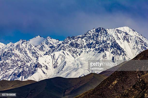 snowy qinghai high mountain landscape,china. - qinghai province stock photos and pictures