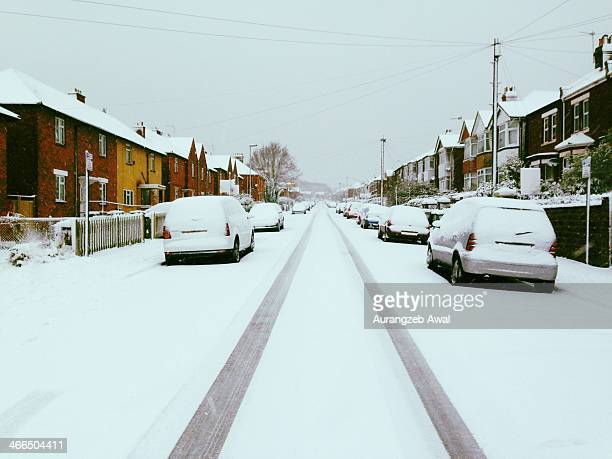 CONTENT] A snowy road in Southampton
