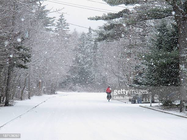 snowy road - bedford nova scotia stock pictures, royalty-free photos & images