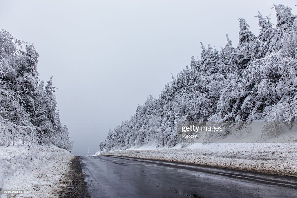 Snowy road : Stock Photo