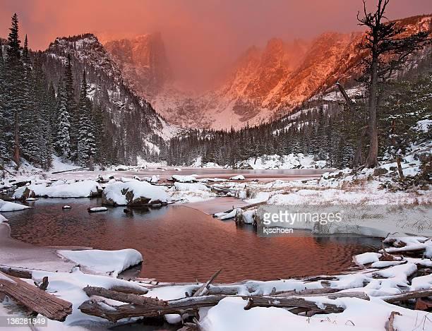 Snowy Sunrise at Dream Lake
