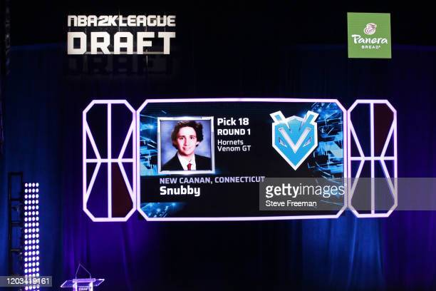 Snubby gets picked during the NBA 2K League Draft on February 22 2020 at Terminal 5 in New York New York NOTE TO USER User expressly acknowledges and...