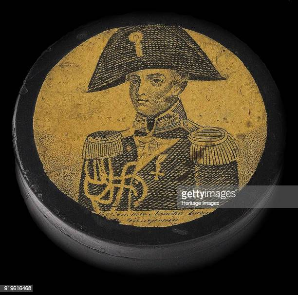 Snuff box with Portrait of Alexander Ivanovich Kazarsky First quarter of 19th cen Found in the Collection of State Hermitage St Petersburg
