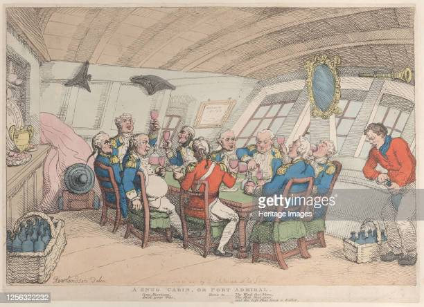 Snug Cabin, or Port Admiral, June 21, 1808. Artist Thomas Rowlandson.