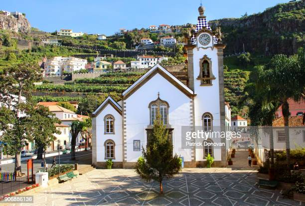 são bento church, ribeira brava, madeira, portugal - madeira stock photos and pictures
