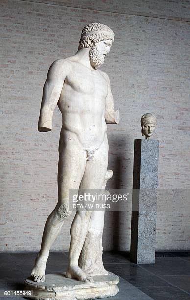 So called King of Munich marble statue depicting a bearded god or hero Roman copy after a Greek original Greek and Roman Civilisation Monaco...