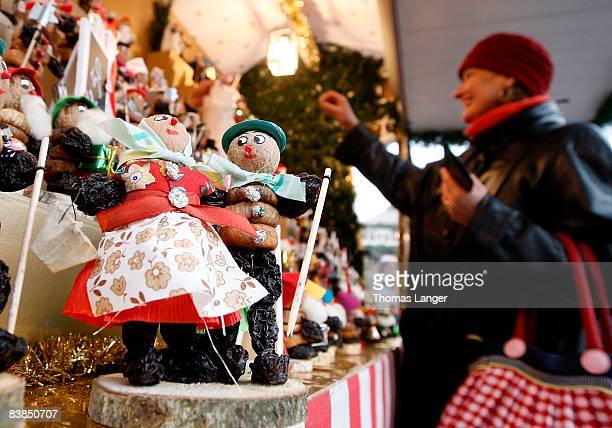 A so called Zwetschgermaennla is seen prior to the opening ceremony of the Christmas Market on November 28 2008 in Nuremberg Germany Germany's...
