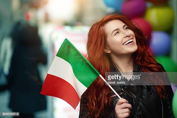so cheerful in italy - italian flag stock pictures, royalty-free photos & images