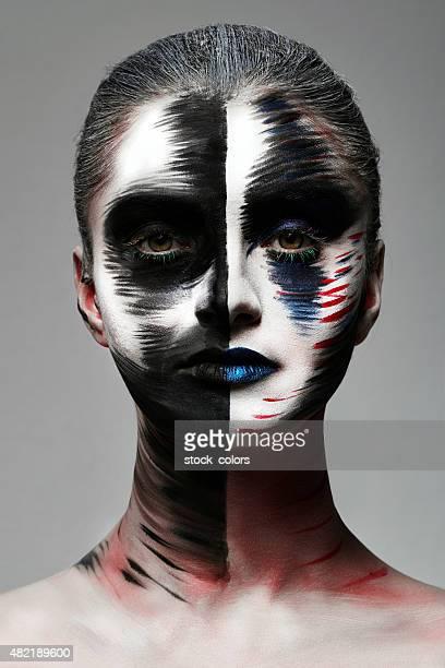 para maquillaje creativo - actriz fotografías e imágenes de stock