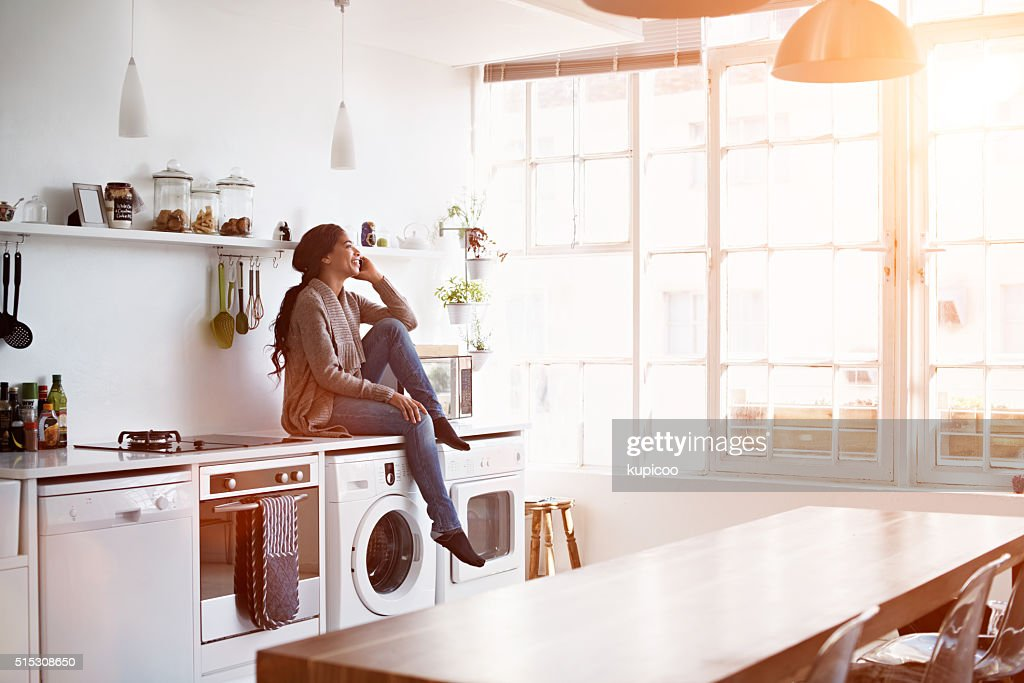 So good to hear your voice! : Stock Photo