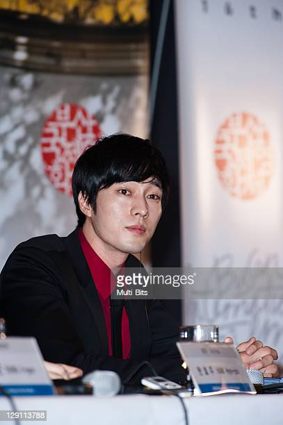 So JiSub attends the 'Only You' press conference during day one of the 16th Busan International Film Festival at Busan Cinema Center on October 6...