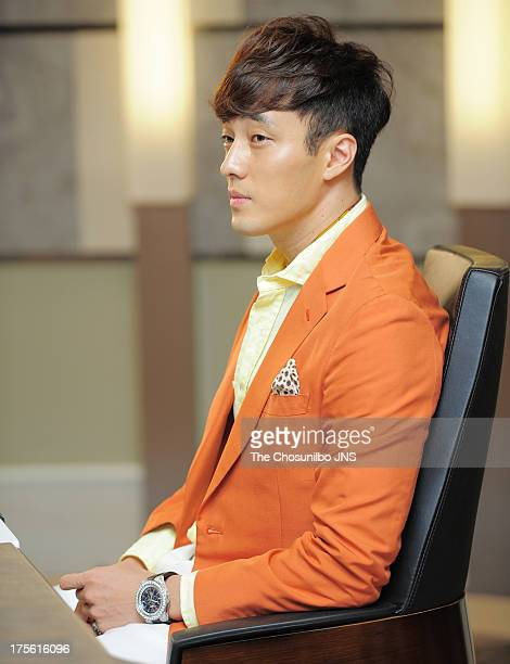So JiSub is seen during the SBS Drama 'The Master's Sun' filming at SBS Ilsan Production Center on August 2 2013 in Ilsan South Korea