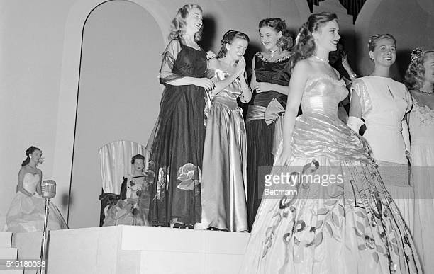 So near and yet so far Elaine Campbell Miss Minnesota cries after judges award the 1947 Miss America title to Mary Jo Walker Last Miss America to be...