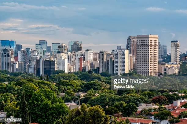 são paulo cityscape showing  the faria lima avenue region, brazil - são paulo stock pictures, royalty-free photos & images