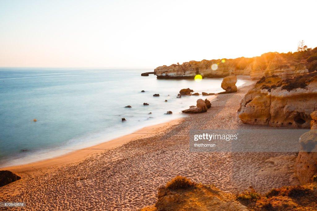 São Rafael Beach at sunset, Algarve Portugal : Photo