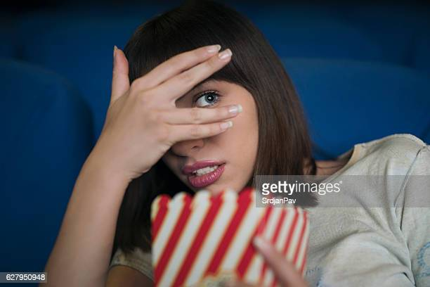 so scary! - scary movie stock photos and pictures