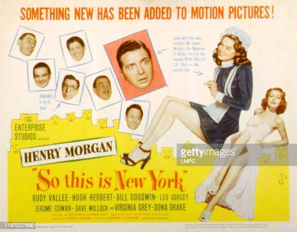 So This Is New York lobbycard Jerome Cowan Leo Gorcey Rudy Vallee Bill Goodwin Harry Morgan Dona Drake Virginia Grey 1948