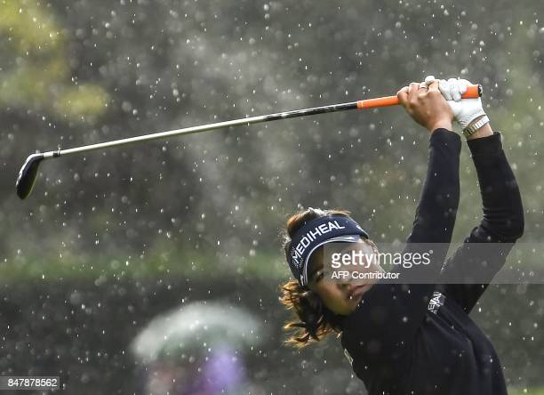So Yeon Ryu from Republic of Korea competes on September 16 2016 during the Golf Evian Championship in the French Alps town of EvianlesBains a major...