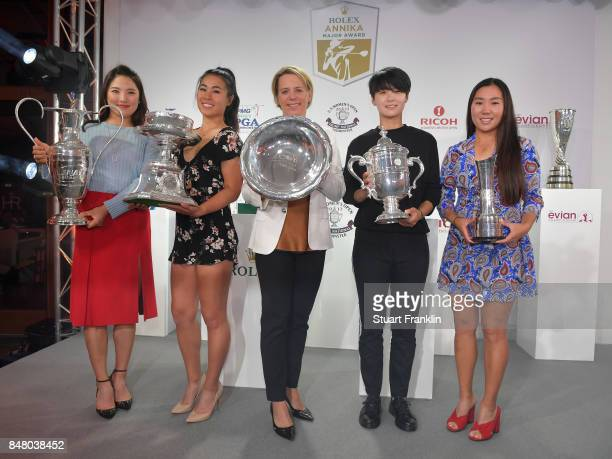 So Yeon Ryu of South Korea Danielle Kang of USA Annika Sorenstam Sung Hyun Park of South Korea and InKyung Kim of South Korea pose for a picture at...