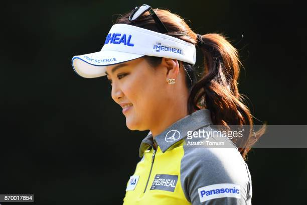 So Yeon Ryu of South Korea looks on during the second round of the TOTO Japan Classics 2017 at the Taiheiyo Club Minori Course on November 4 2017 in...