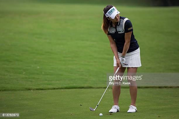 So Yeon Ryu of South Korea plays a shot in the Fubon Taiwan LPGA Championship on October 8 2016 in Taipei Taiwan