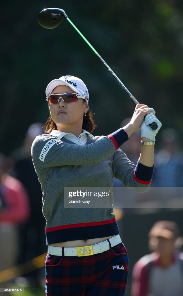So Yeon Ryu of South Korea, plays a tee shot, during the last day of the Swinging Skirts 2013 World Ladies Masters, at Miramar Golf & Country Club on December 8, 2013 in Taipei, Taiwan.