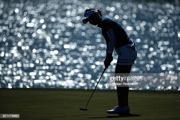 So Yeon Ryu of South Korea putts on the fifth green during the third round of the LPGA LOTTE Championship Presented By Hershey at Ko Olina Golf Club...