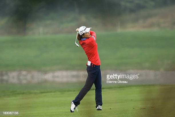 So Yeon Ryu of South Korea takes an approach shot during the second round of the Reignwood LPGA Classic at Pine Valley Golf Club on October 4 2013 in...