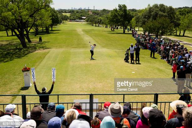 So Yeon Ryu of the United States plays her tee shot at the first hole during the final round of the Volunteers of America North Texas Shootout at Las...