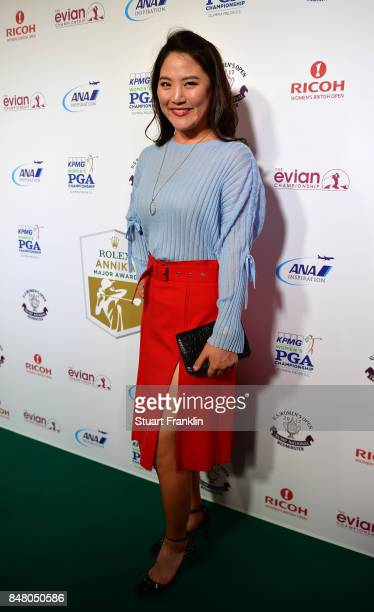 So Yeon Ryu of USA poses for a picture at the Rolex Annika Awards ceremony after the second round of The Evian Championship 2017 at Evian Resort Golf...