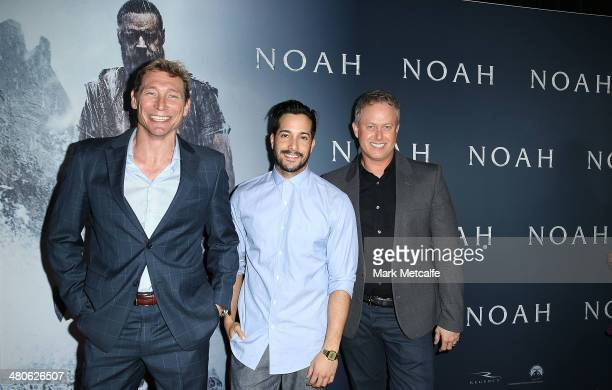 So You Think Can Dance Australia judges Aaron Cash Shannon Holtzapffe and Jason Gilkinson arrive at the 'NOAH' Sydney Fan Screening at Event Cinemas...