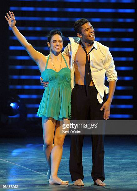 So You Think You Can Dance dancers Jeanine Mason and Jason Glover perform at the Dizzy Feet Foundation's Inaugural Celebration of Dance at The Kodak...
