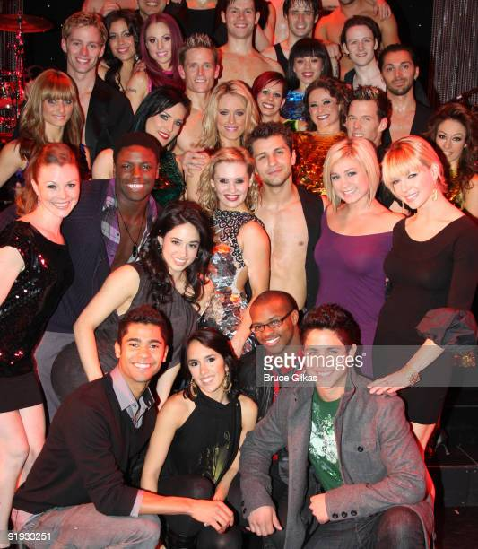 So You Think You Can Dance finalists visit winners Anya Garnis and Pasha Kovalev who star in Burn The Floor on Broadway at the Longacre Theatre on...
