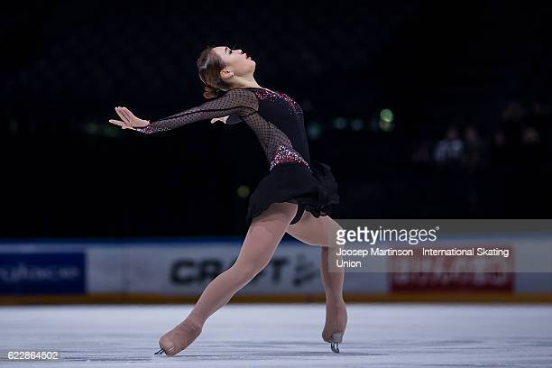 So Youn Park of Korea competes during Ladies Free Skating on day two of the Trophee de France ISU Grand Prix of Figure Skating at Accorhotels Arena...