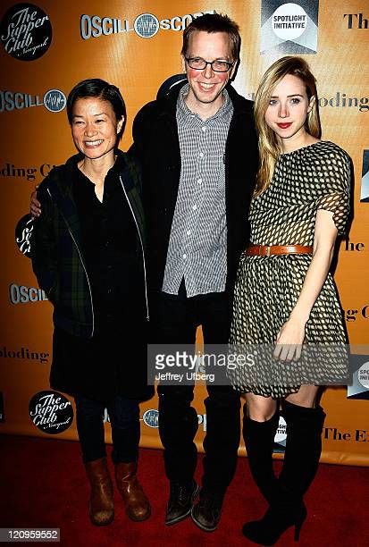 So Young Kim Writer / Director Bradley Rust Gray and Actress Zoe Kazan attend the premiere of 'The Exploding Girl'>> at the Tribeca Grand Hotel on...