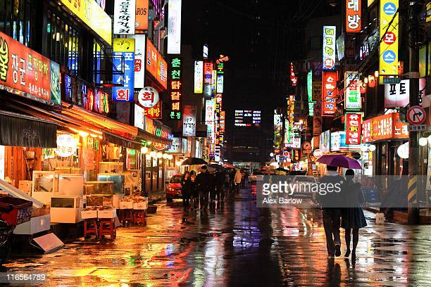 soaked seoul - seoul stock pictures, royalty-free photos & images