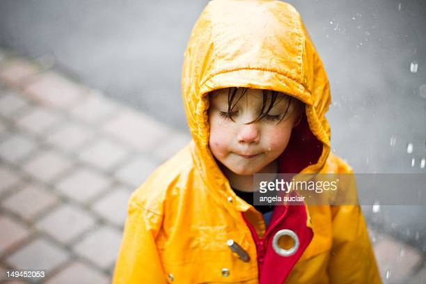 Soaked toddler