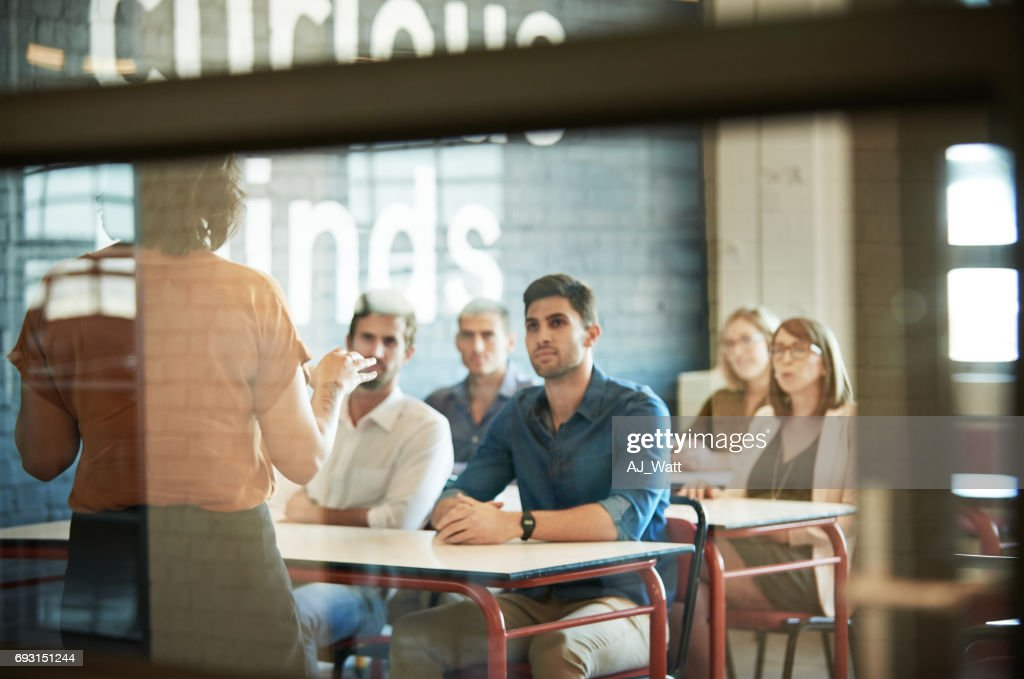 Soaking up the information : Stock Photo
