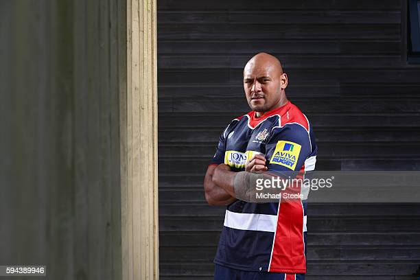Soane Tonga'uiha poses for a portrait during the Bristol Rugby squad photo call for the 2016-2017 Aviva Premiership Rugby season on August 23, 2016...